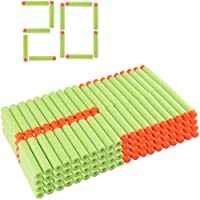 SYGA Green Plastic Foam Toy Bullet Dart Bullets for Nerf N-Strike Elite Guns, 20-Pieces