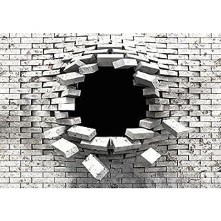 Vliestapete Steinoptik Schwarz 3d. Fototapete Steinwand 3D Effekt 396 X 280  Cm Vlies Wand Tapete Wohnzimmer Schlafzimmer Büro Flur Dekoration