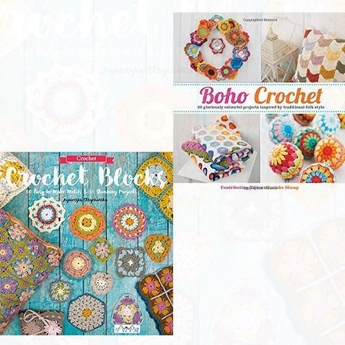 Boho Crochet and Crochet Blocks 2 Books Bundle Collection - 30 Gloriously Colourful Projects Inspired by Traditional Folk Style [Flexibound], 60 Easy-To-Make Motifs & 15 Stunning Projects