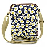 Mopaclle Girls Canvas Mini Cute Cross Body bag Cell Phone Purse Wallet Pouch Shoulder Bag for Women,Lady (Chrysanthemum)