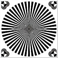 Aufkleber 10cm Sticker Siemensstern Auflösung Graukarte Kamera Objektiv Fokus Test chart (1)