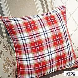 cojín del sofá de la tela escocesa/almohada/oficina/cojines de coches/funda de almohada de algodón moda para el hogar-A 45x45cm(18x18inch)VersionA