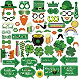 HOWAF St.patrick Photo Booth(59pcs), Funny St.patricks Day Irish Party Photo Booth Props Accessories with Sticks for Kids Women Man for Saint Patty's Day Party Favor Suppliers