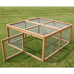 Run for small animals ideal for Rabbits and Guinea Pigs made from rigid hardwearing wood