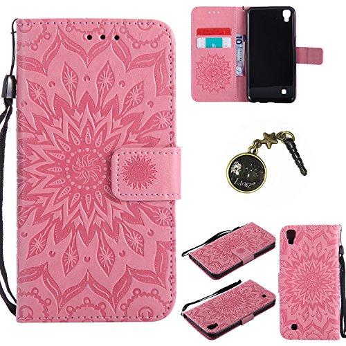 Preisvergleich Produktbild PU Silikon Schutzhülle Handyhülle Painted pc case cover hülle Handy-Fall-Haut Shell Abdeckungen für LG X Power (13,5 cm (5,3 Zoll) hülle +Staubstecker (5FF)
