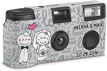 """Hochzeitskamera Einwegkamera """"Happy Bride and Groom"""" mit Personalisierung"""