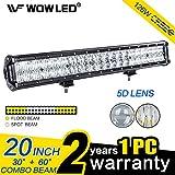 Wowled - Barre lumineuse 50,8cm 126W 5D LED pour camion et 4x4