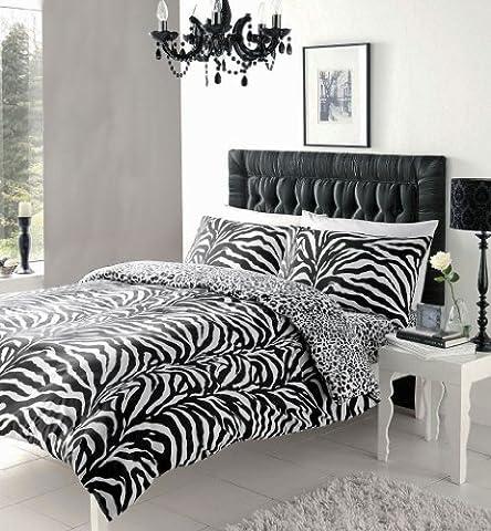 BLACK & WHITE ZEBRA PRINT DUVET COVER SETS