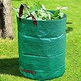 GroundMaster Gartenabfallsäcke, 300 l, rund, strapazierfähig, professionell, verstärkt, Aufbewahrungstaschen