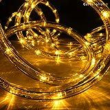 LED Lichtschlauch gelb 9 m für Garten innen/außen von Gartenpirat®