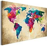 murando Peinture par Numéro Adulte Kit Monde 60x40cm DIY Tableau Peindre par Nombre Bricolage pour Enfants Numérique pour Enfants Cadre Home Decor n-A-0231-d-a