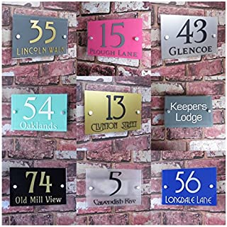 House Sign Solutions MODERN HOUSE SIGN DOOR NUMBER ADDRESS PLAQUE STRET PROPERTY PLATE