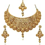 #7: Sukkhi Jewellery Set for Women (Golden)(N71789GLDPM1250)