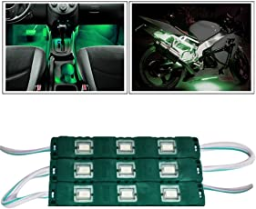 Vheelocityin 9 LED Custom Cuttable Bike and Car Light for Interior and Exterior (Green)