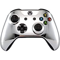 eXtremeRate Chrome Silver Edition Front Housing Shell Faceplate for Microsoft Xbox One S & Xbox One X Controller(Model…
