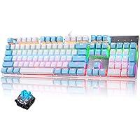 Tastiera meccanica di gioco cablata Switch blu 104 tasti LED RGB 9 Modalità di retroilluminazione Pannello metallico…