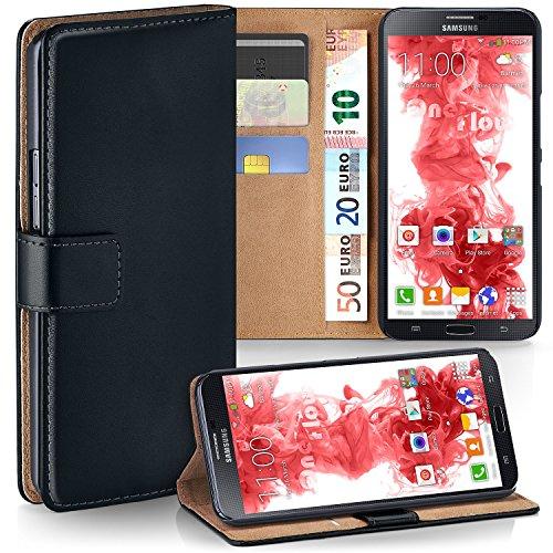 Samsung Galaxy Mega 6.3 Hülle Schwarz mit Karten-Fach [OneFlow 360° Book Klapp-Hülle] Handytasche Kunst-Leder Handyhülle für Samsung Galaxy Mega 6.3
