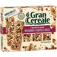 Gran Cereale - Snack Barrette 4 Cereali Mandorle e Mirtilli Rossi - Colazione e Snack Dolce - 135 gr