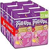 Huggies Pull-Ups Girls Night Time Pants Convenience Pack, Medium - 6 Packs (12 Pants Per Pack, 72 Pants Total)