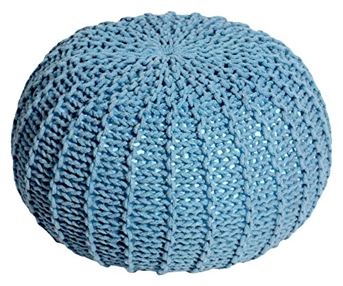Cribel Prince Puf de tela y poliestireno expandido, 45x45x30 cm, Azul,