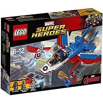 LEGO Super Heroes 76076 - Set Costruzioni Inseguimento sul Jet di Capitan America