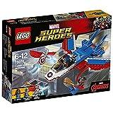 LEGO- Super Heroes Capitan America Set Costruzioni Inseguimento sul Jet, Multicolore, 76076