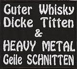 Guter Whisky Dicke Titten Heavy Metal Geile Schnitten Death Metal Forever Aufnäher