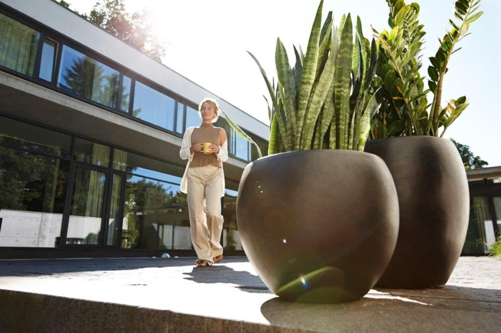 Esteras Blumenkübel, Smartline Buren 97, grau, 47x97x47 cm ...