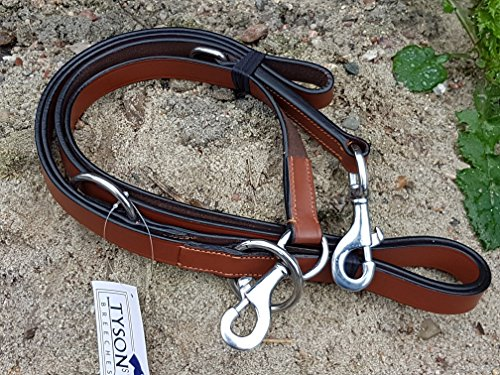 Tysons Breeches B - WARE Lederleine Leine Leder London Braun 2,10 Meter große Hunde Hundleine echtes Leder