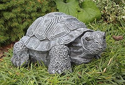 Gartenfigur Schildkröte groß - Schiefergrau, Deko, Figur, Garten, Stein, frostsicher von Tiefes GbR bei Du und dein Garten