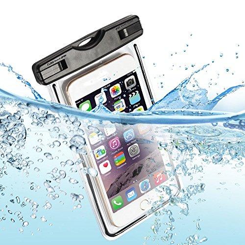 Wasserdichte Tasche,Staubdichte Handyschutz Beachbag Waterproof Case für Galaxy S8/S7/S6/S6 Edge/S5, iPhoneX/8 Plus/8/6/6s/6sPlus/SE/5s, Huawei P20/Mate 10/Mate 10 Pro Usw Smartphone,Schwarz