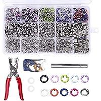 200PCS x 9,5mm Snap Poppers Cierres de Colores Anillo de Diente Botones de Presión para Babygrows, baberos, Custom ropa o DIY proyectos por TopDirect (10 colores)
