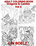 Adult coloring book Fantasy Dragons & Castles (adult coloring books)
