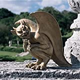 Design Toscano Legende von Cambridge, Hockende Gargoyle-Figur - Groß