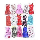 100Floral Kleider für Barbie Puppe Fashion Party Kleider Kleidung Bademantel für Barbie Puppen Mädchen Geschenk