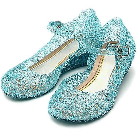 Katara - Zapatos para disfraz de princesa Elsa, color azul, talla 28 (talla del fabricante 30)