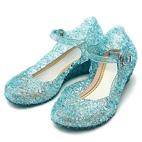 Katara Pair of Princess Shoes, Color Azul, Tamaño UE 26 (ES10-069)