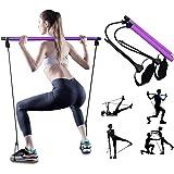 Pilates Exercise Resistance Band, Yoga Pilates Bar Reformer Kit, Portable Pilates Stick Fitness Bar, Home Gym Pilates Met Foo