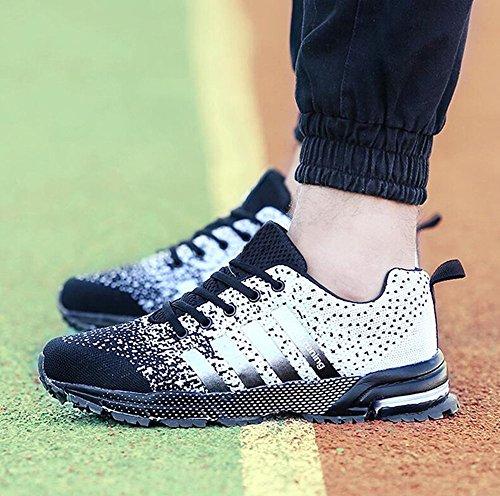 Uomo Donna Ginnastica Trekking Estive Sneakers Sportive Nero 37