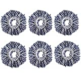#8: Royal Export Microfiber Spin Mop Refill (White, Pack of 6)