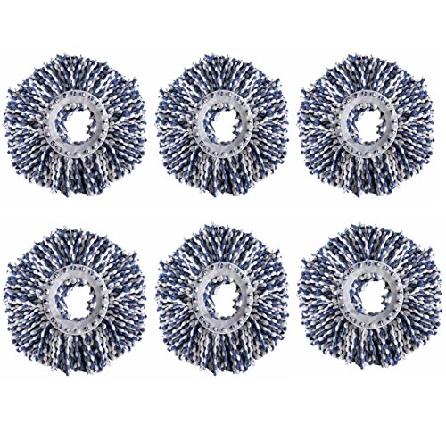 Royal Export Microfiber Spin Mop Refill (White, Pack of 6)  available at amazon for Rs.249