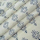 #10: 5 Meter Cotton fabric for garments Jaipuri Dress Making Fabric Hand Block Print Cotton Fabric #04