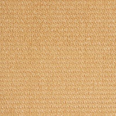 greemotion 124895 Balkonschutz aus hochwertigem Polyethylen, Sichtschutz mit den Maßen 600 x 75 x 1 cm, wetterbeständige Schutzplane zur Anbringung an Zäunen, Balkonen und Terrassen, luftdurchlässige Balkonumspannung, Markise in der Farbe sand von Tes