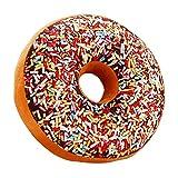 Ailiebhaus Donut Coussin moelleux chocolat Coussin décoratif Multicolore