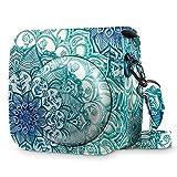 Fintie Tasche für Fujifilm Instax Mini 8 / Mini 9 Sofortbildkamera - Premium Kunstleder Schutzhülle Reise Kameratasche Hülle Abdeckung mit abnehmbaren Riemen, smaragdblau