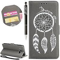 Galaxy J3 Hülle, Galaxy J3 Hülle Ledertasche Brieftasche im BookStyle, SainCat PU Leder Wallet Case Folio Prägung... preisvergleich bei billige-tabletten.eu
