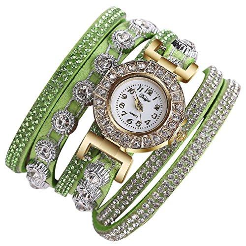 Uhren Damen Uhrenarmband Uhr Frauen Klassisch Uhr Mode Lässig Analog Quarz Uhr Strass Armbanduhr DP Luxus Armband Exquisit Uhr,ABsoar