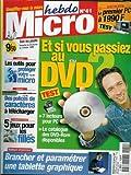 Micro hebdo - n°41 - 28/01/1999 - Et si vous passiez au DVD ?