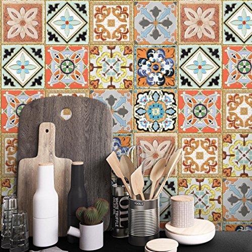 gaddrt Küche Kunst Wall Decal DIY Aufkleber 1 Rolle selbstklebende Fliesen Badezimmer Dekor Vinyl
