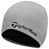 TaylorMade 2017 Thermal Fleece Beanie Double Knitted Mens Golf Hat Grey